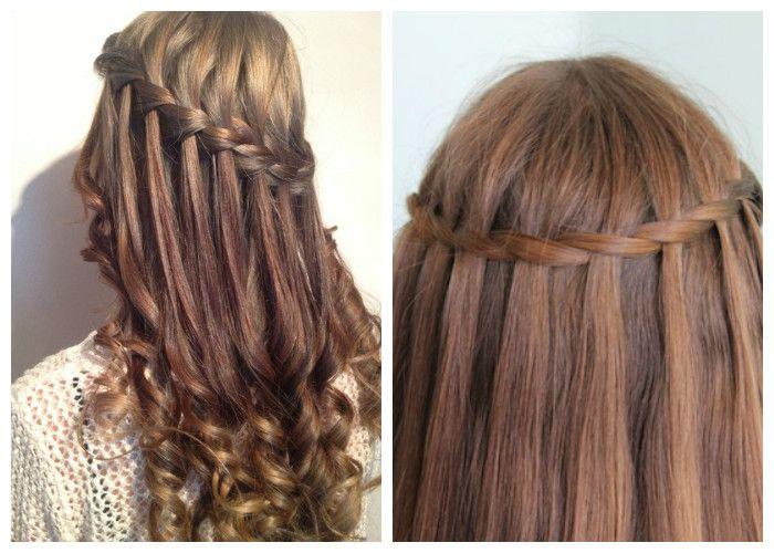 Прическа водопад на кудрявые и прямые волосы (фото)