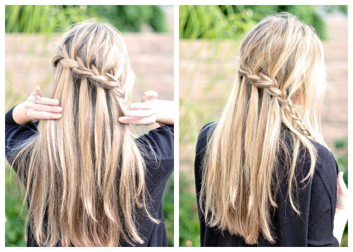 Прическа водопад на длинные волосы (фото)