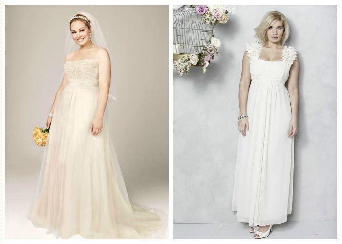 Свадебные платья для полных с завышенной талией (фото)
