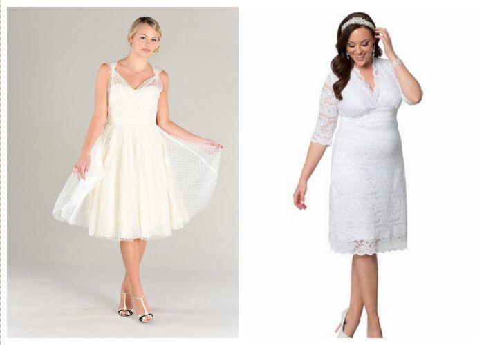 Короткие свадебные платья (фото)