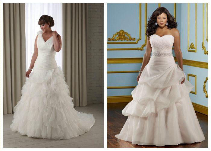Свадебные платья для полных А-силуэта (фото)