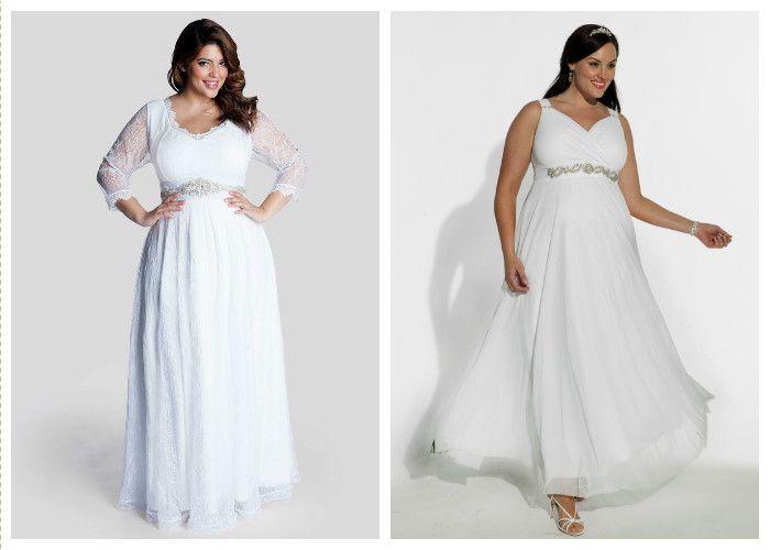 Свадебные платья для полных свободного кроя (фото)