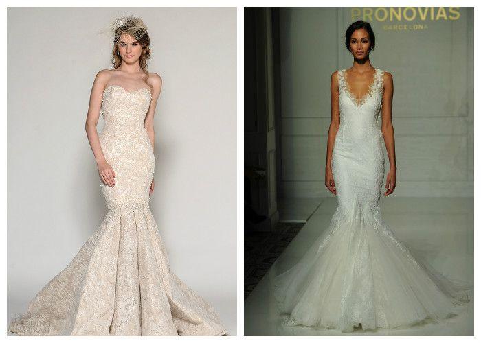 Свадебное платье русалка: тренды 2016