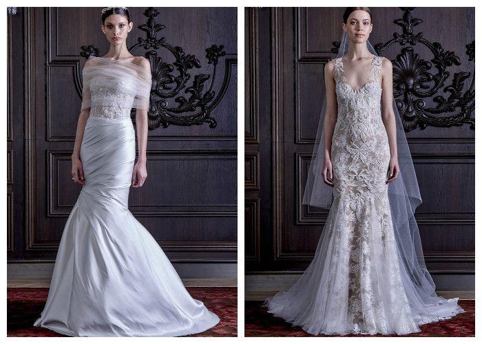 Свадебное платье русалка: фото модных моделей, Monique Lhuillier