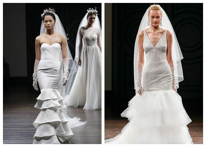 Свадебное платье русалка: фото модных моделей, Naeem Khan