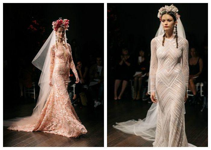 Свадебное платье русалка: фото модных моделей 2016, Naeem Khan