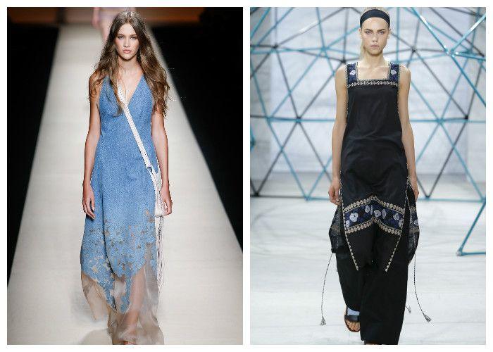 Фото джинсовых платьев: модные новинки 2016