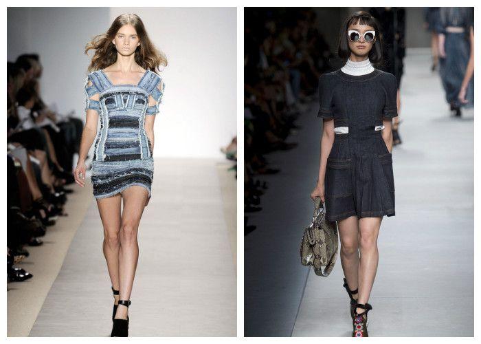 Фото коротких джинсовых платьев: модные новинки 2016