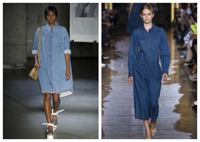 Фото джинсовых платьев фасона рубашка: модные новинки 2016