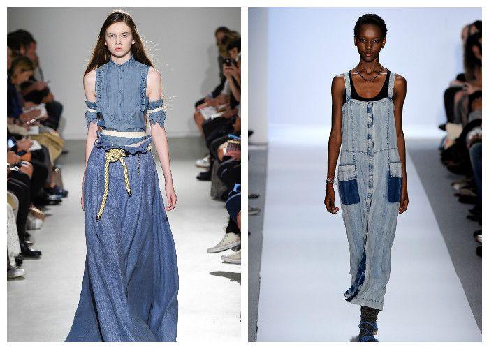 Фото длинных джинсовых платьев: модные новинки 2016