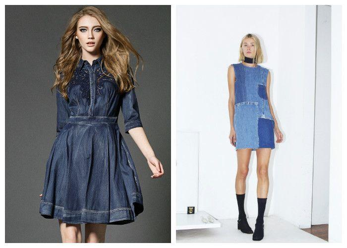 летние джинсовые платья: новинки