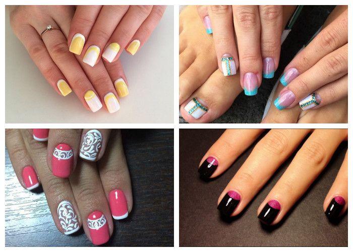Идеи дизайна ногтей: модный френч (фото)