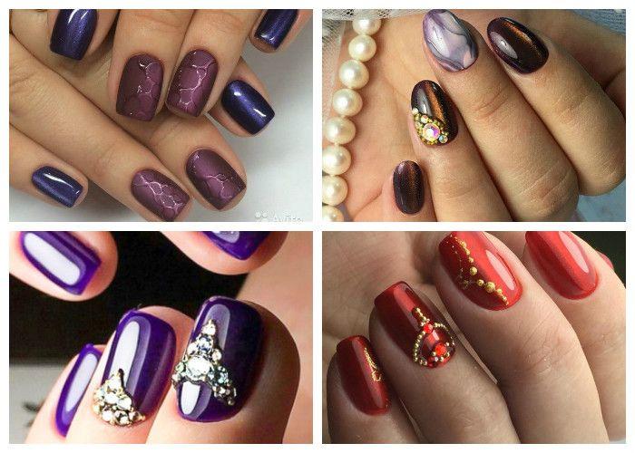 Идеи дизайна ногтей со стразами и блестками (фото)