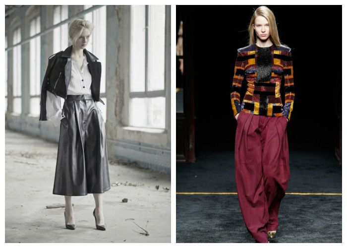 Модная юбка-брюки 2016 (фото)