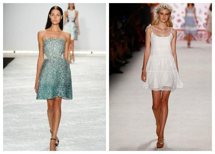 Короткие летние платья 2016