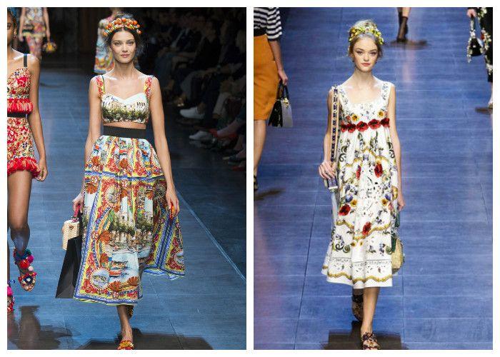 Летние сарафаны 2016: Dolce & Gabbana (фото)