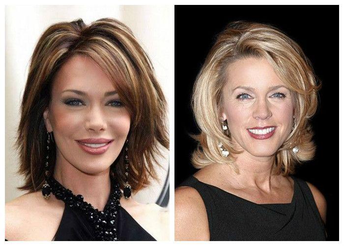Стрижки для женщин 40 лет на средние волосы (фото)