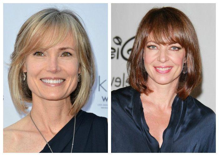 Стрижки для женщин 40 лет на средние волосы: каре с челкой (фото)