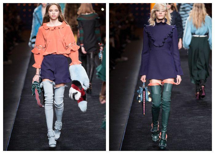 Модная одежда 2017 фото: коллекция Fendi