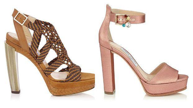 Модные босоножки на каблуке, фото