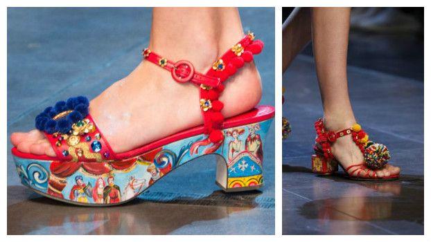 Модные босоножки: новинки летнего сезона, Dolce & Gabbana, фото