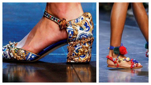 Модные босоножки: новинки, Dolce & Gabbana, фото
