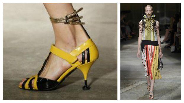 Модные босоножки: новинки, Prada, фото