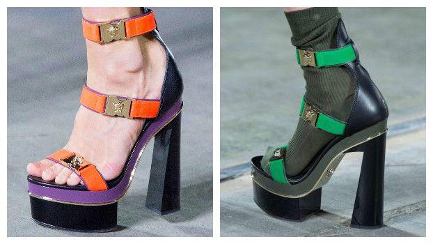 Модные босоножки: новинки, Versace, фото