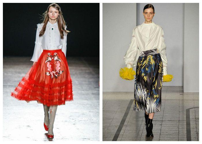 Модные тенденции 2017: юбки, фото