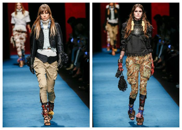 Модные тенденции 2017 года: брюки Dsquared, фото