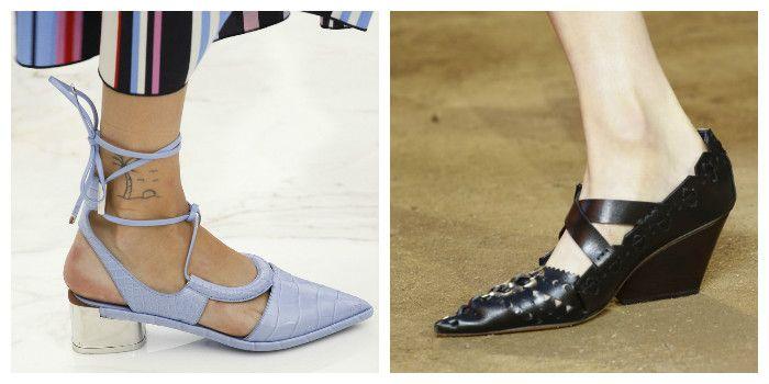 Модные туфли на низком каблуке (фото)