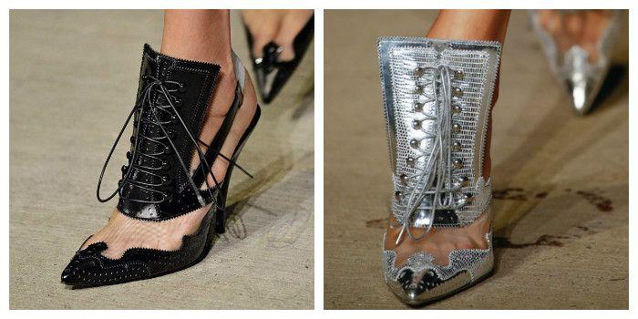 Модные туфли со шнуровкой (фото)