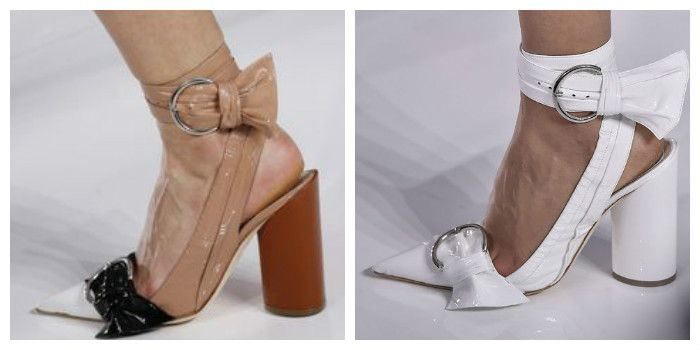 Модные туфли с крупными пряжками (фото)