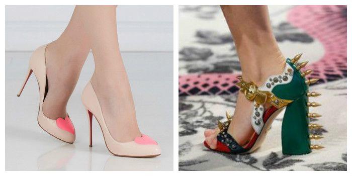 Модные туфли на высоком каблуке