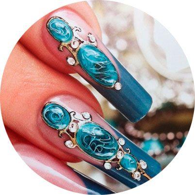 Красим ногти на Новый год 2017, маникюр и дизайн ногтей (56 фото)