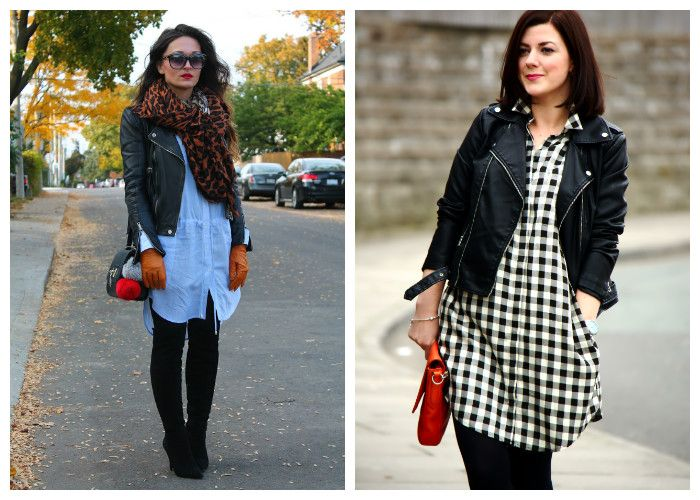 Платье-рубашка: с чем носить осенью и весной