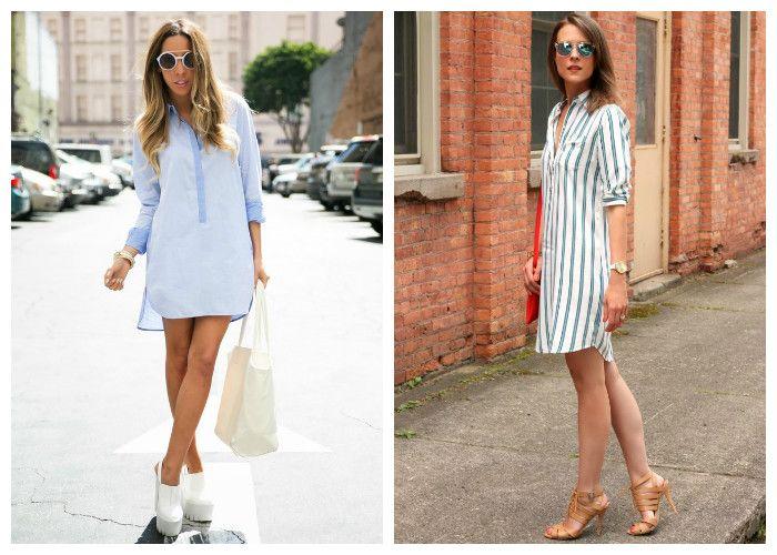 Платье-рубашка: с чем носить летом
