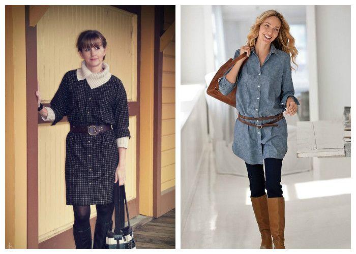 Платье-рубашка: с чем носить зимой