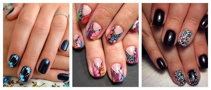 Рисунки на ногтях в домашних условиях: гель-лаком, фото