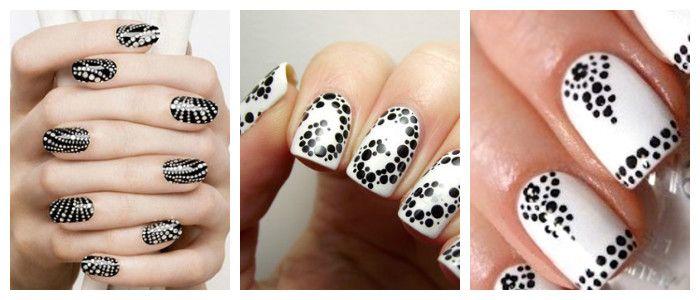 Рисунки на ногтях в домашних условиях: дотсом, фото