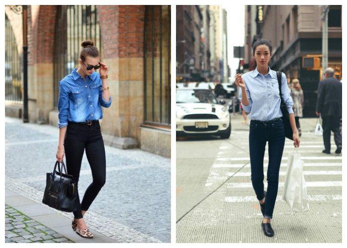 Как правильно носить джинсовую рубашку, фото