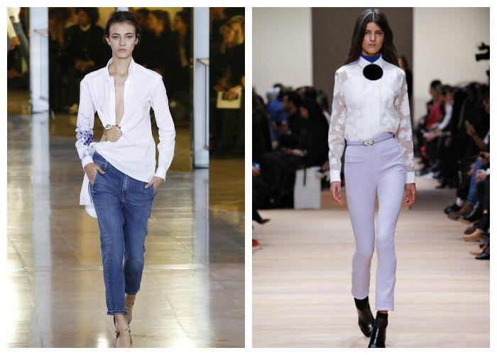С чем носить белую рубашку, фото