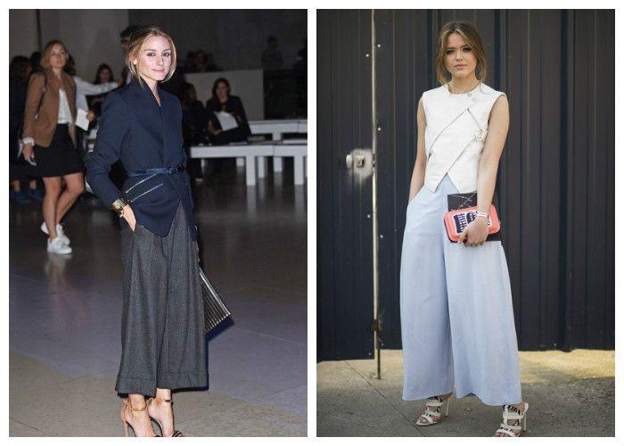 Длинная юбка-брюки, фото