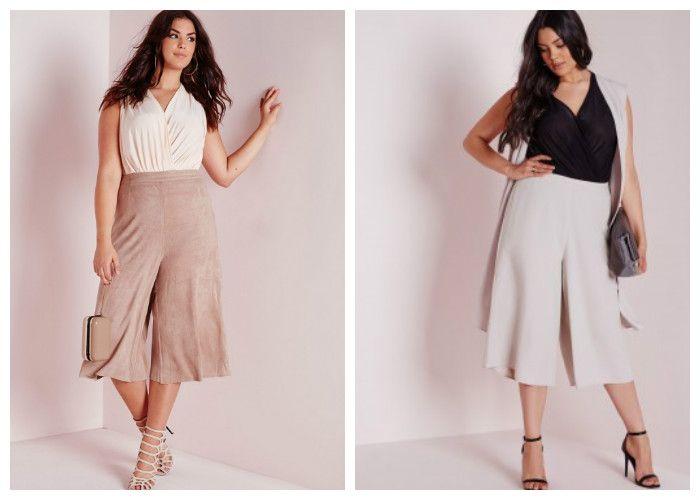 Юбки для полных женщин: фасон юбка-брюки