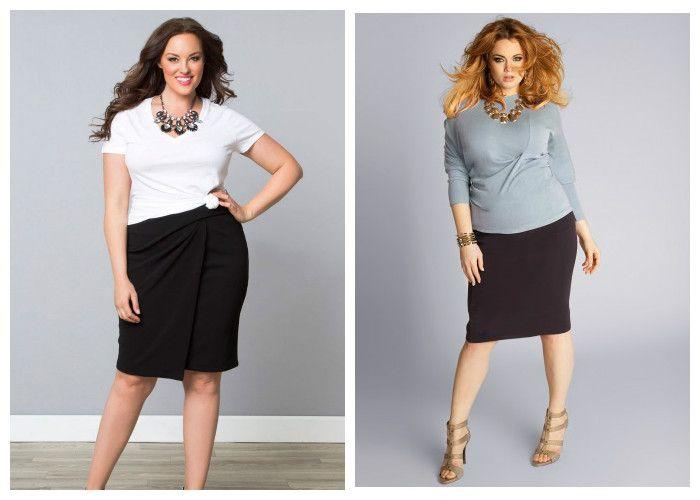 Юбки для полных женщин: фасон юбка-карандаш