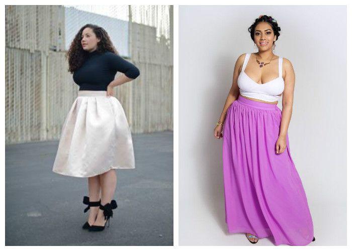 Удлиненные юбки для полных женщин