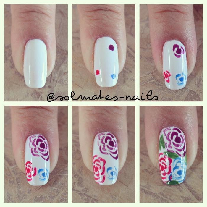 Урок по дизайну ногтей с цветами, фото пошагово