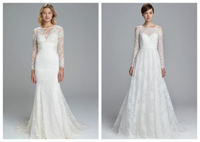 Свадебные платья новинки: закрытые с длинным ажурным рукавом