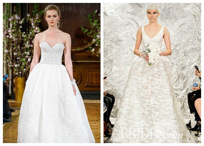 Свадебные платья новинки: пышные модели, фото