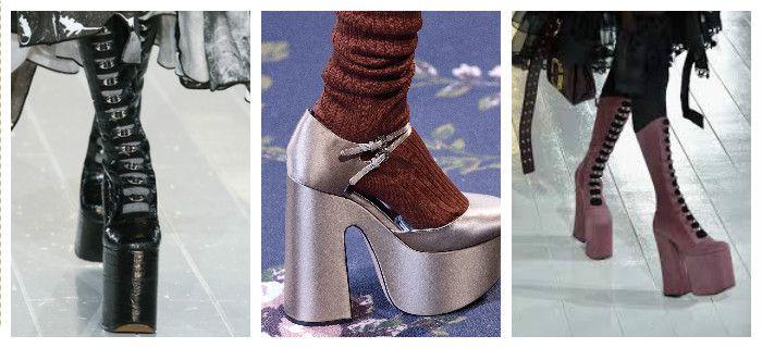 Модная обувь осень-зима 2016 - 2017 на платформе, фото
